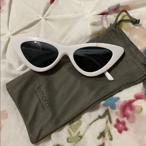 KIMORN White cat eye sunglasses